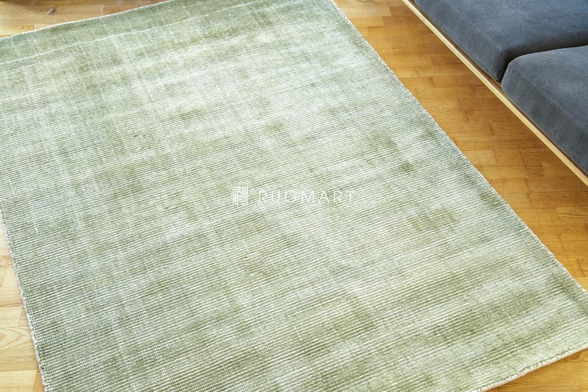 E-comfort ハンドルーム ノッテッド ウール&ヴィスコース FINESTO 140x200cm オリーブ