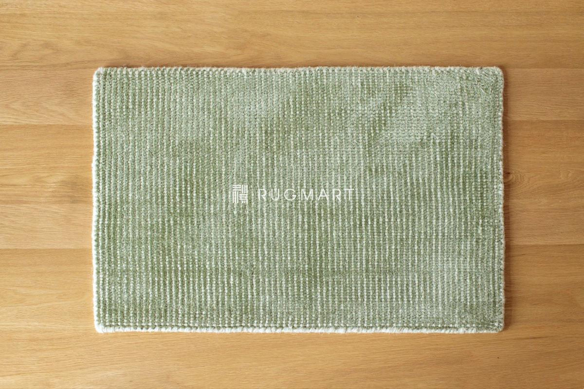 E-comfort ハンドルーム ノッテッド ウール&ヴィスコース FINESTO 40x60cm オリーブ