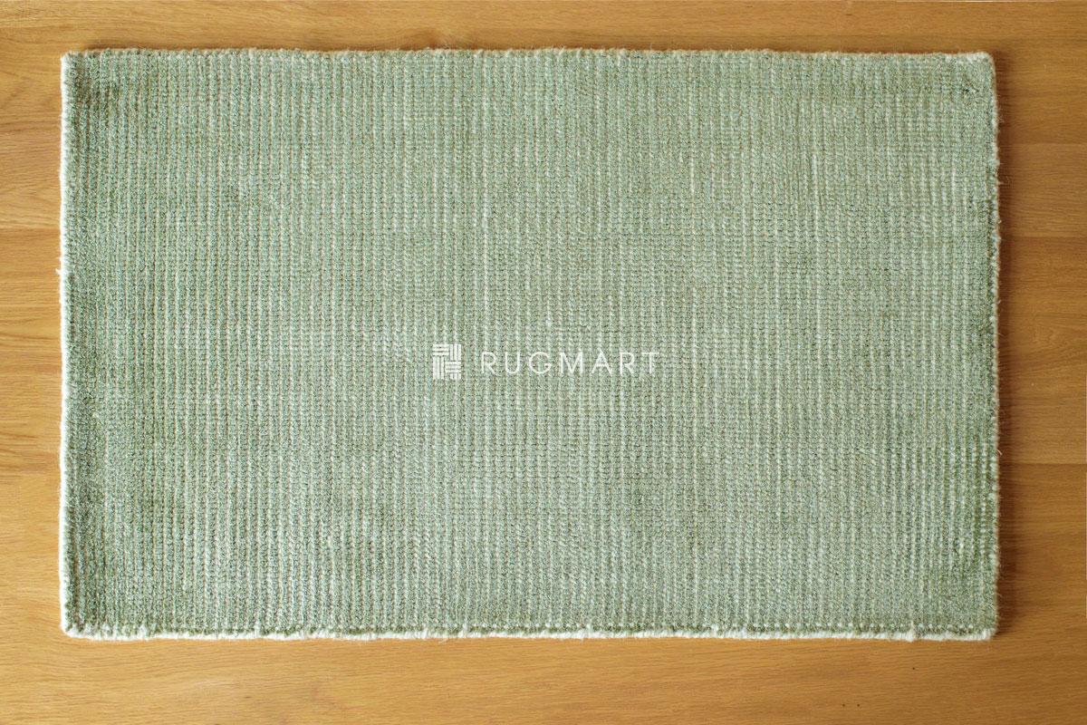 E-comfort ハンドルーム ノッテッド ウール&ヴィスコース FINESTO 50x80cm オリーブ