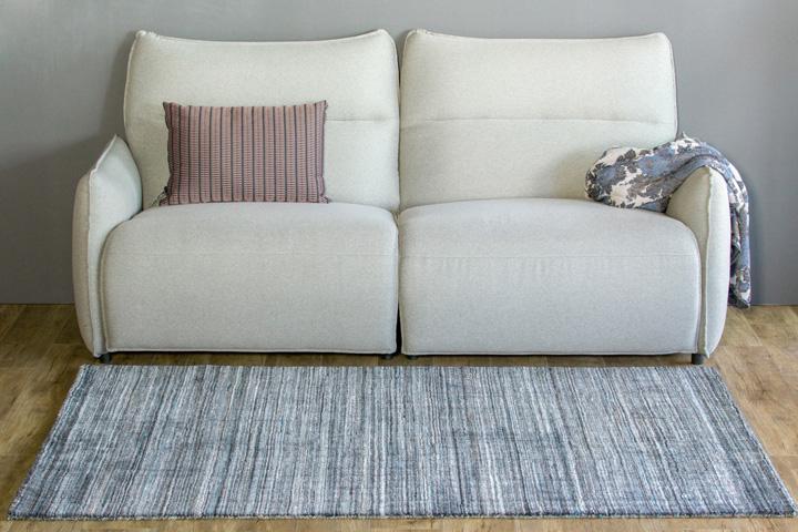 E-comfort ポリエステルラグ FRIDALO 230x160cm チャコール | 正面