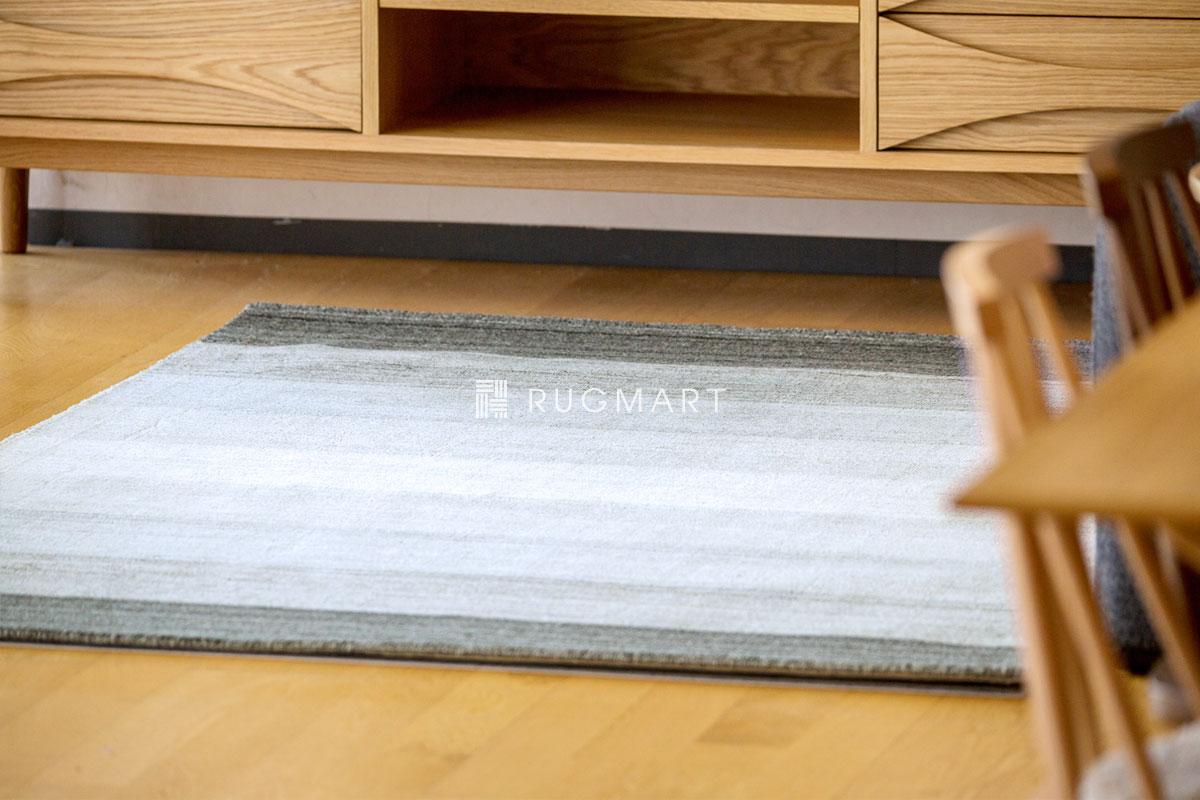 E-comfort ハンドルーム ヴィスコース&ウール Mix GAVINO-GRADATION 140x200cm グレーフュージョン  