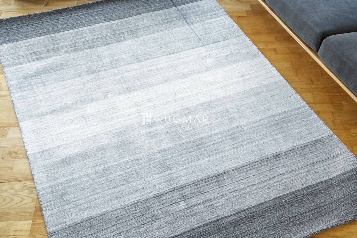 E-comfort ハンドルーム ヴィスコース&ウール Mix GAVINO-GRADATION 160x230cm グレーフュージョン