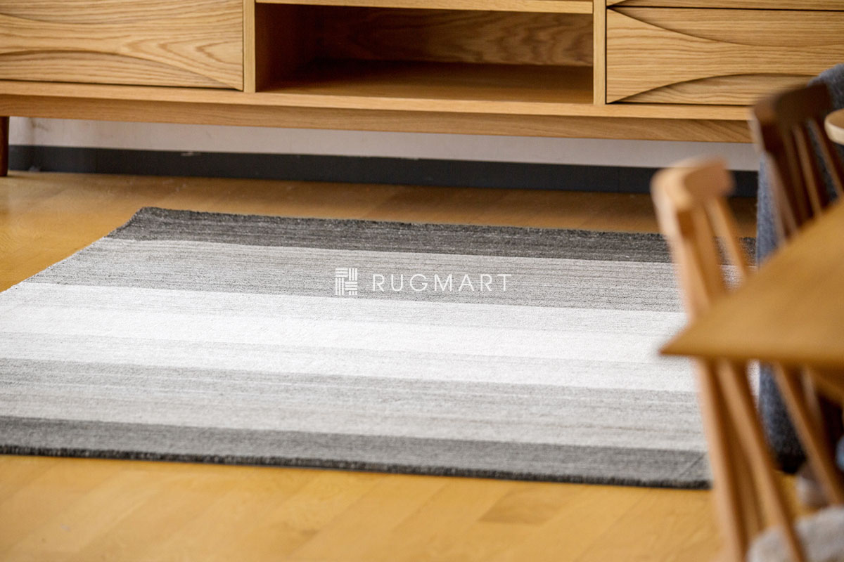 E-comfort ハンドルーム ヴィスコース&ウール Mix GAVINO-GRADATION 160x230cm トープフュージョン |