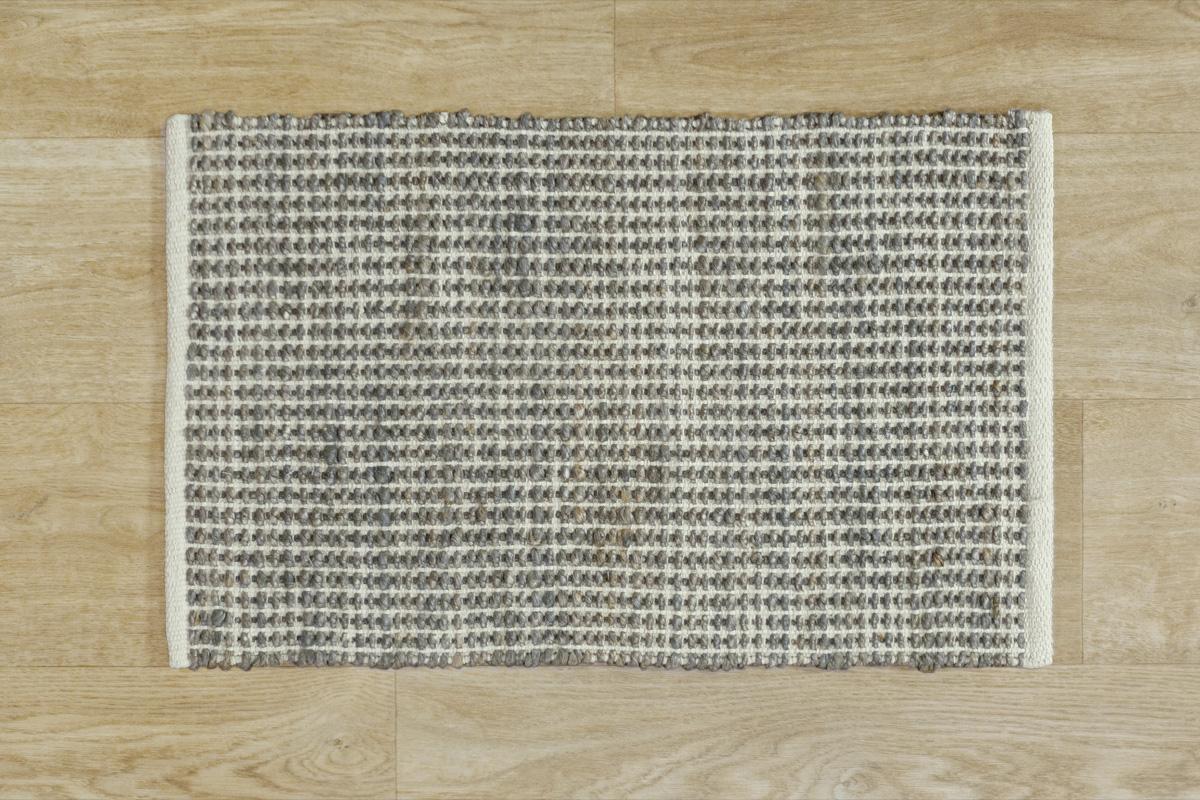 E-comfort ハンドウィーブ ジュート JURO プレーン 80x50cm  グレー