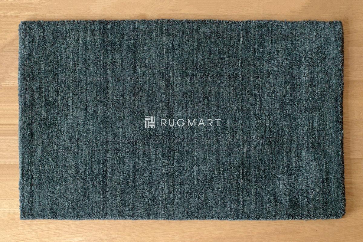 E-comfort ハンドルーム ウール ギャッベ ルリ プレーン 50x80cm チャコール