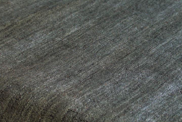 E-comfort 手織りウールラグ ルリバフ プレーン 200x140cm グレー |