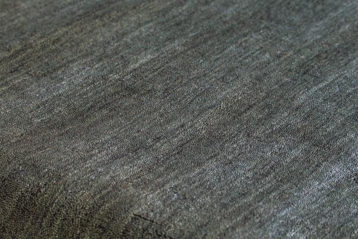 E-comfort 手織りウールラグ ルリバフ プレーン 230x160cm グレー |