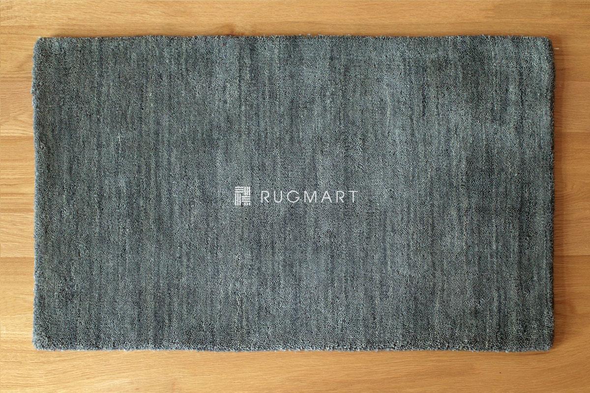 E-comfort ハンドルーム ウール ギャッベ ルリ プレーン 50x80cm グレー