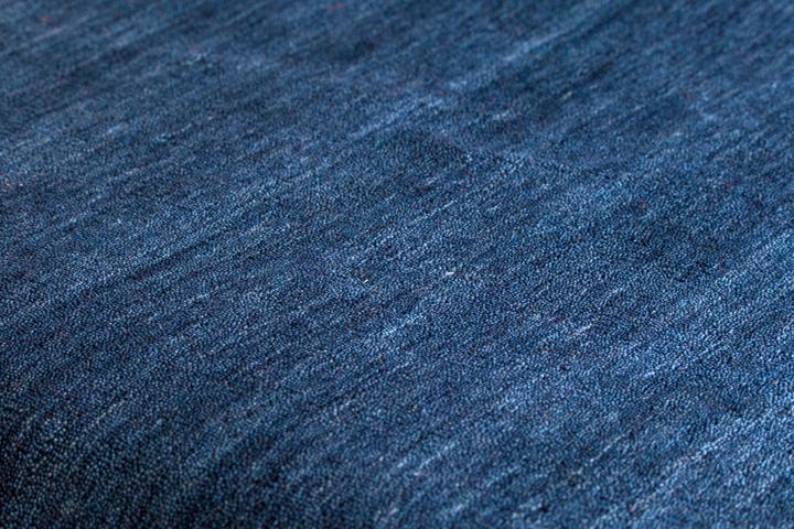 E-comfort 手織りウールラグ ルリバフ プレーン 200x140cm ミッドナイトブルー |