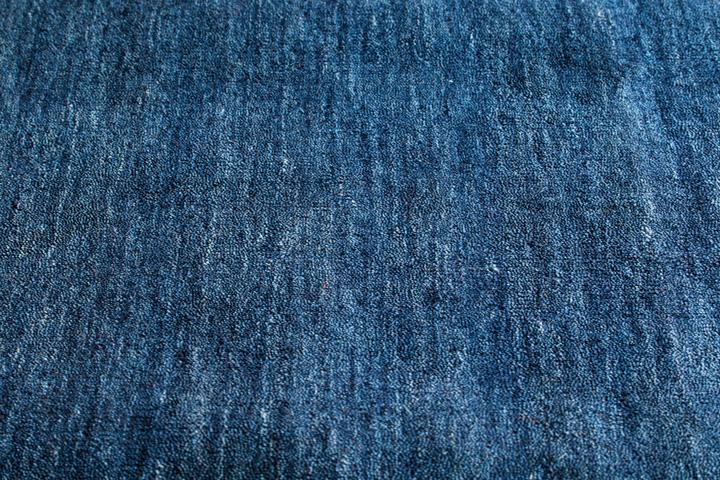 E-comfort ハンドルーム ウール ギャッベ LORI PLAIN 230x160cm  ミッドナイトブルー  