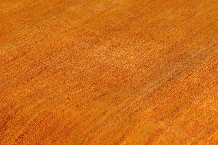 E-comfort 手織りウールラグ ルリバフ プレーン 200x140cm オレンジ |