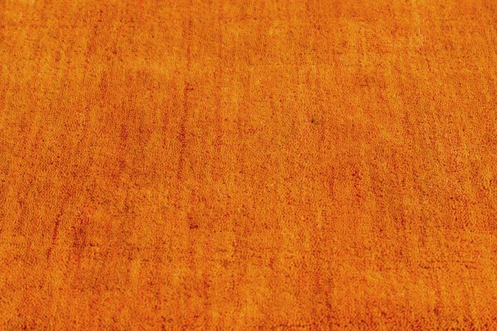 E-comfort 手織りウールラグ ルリバフ プレーン 230x160cm オレンジ |