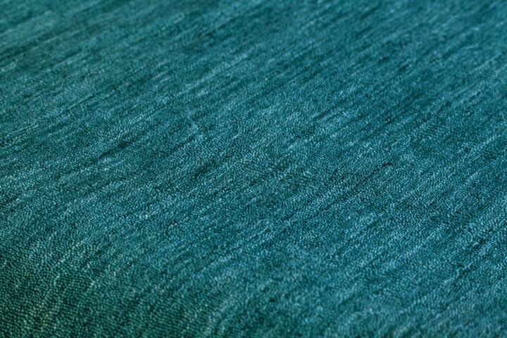 E-comfort 手織りウールラグ ルリバフ プレーン 230x160cm テールターコイズ |