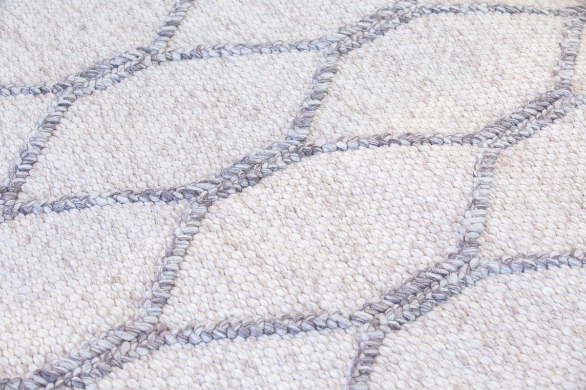 E-comfort 0カウント ナチュラルウール ダリー MELODY 9001 200x140cm  ベージュ&チャコール  