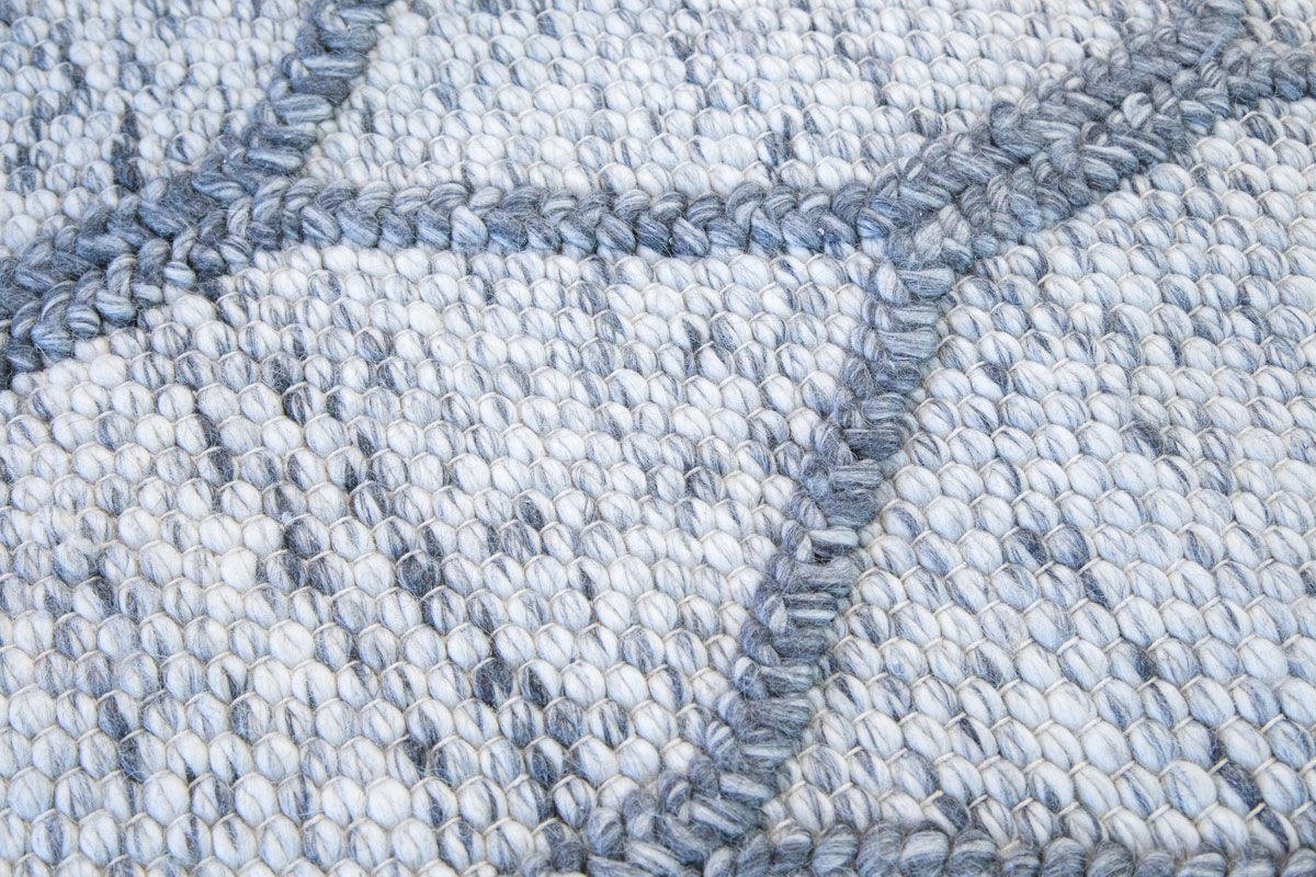 E-comfort 0カウント ナチュラルウール ダリー メロディ9001 200x140cm  グレー&デニム |