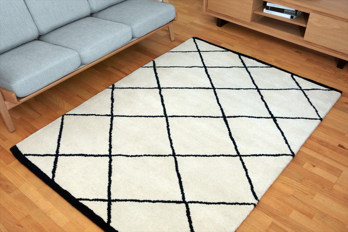 E-comfort ハンドタフテッド Moraccan 230x160cm  #01