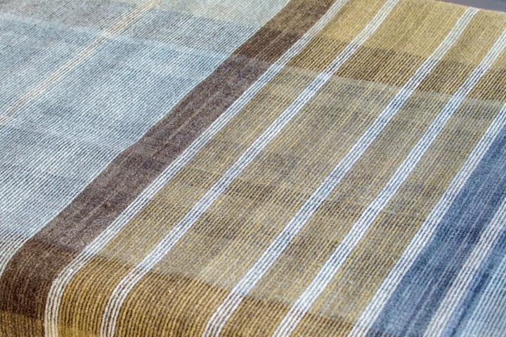 E-comfort 手織り リバーシブル キリム ノルド102 200x140cm アクア |