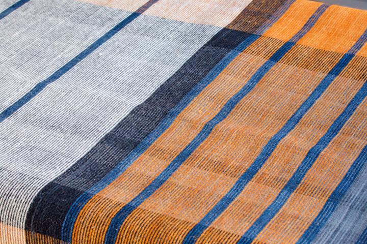 E-comfort 手織り リバーシブル キリム ノルド102 200x140cm オレンジ |