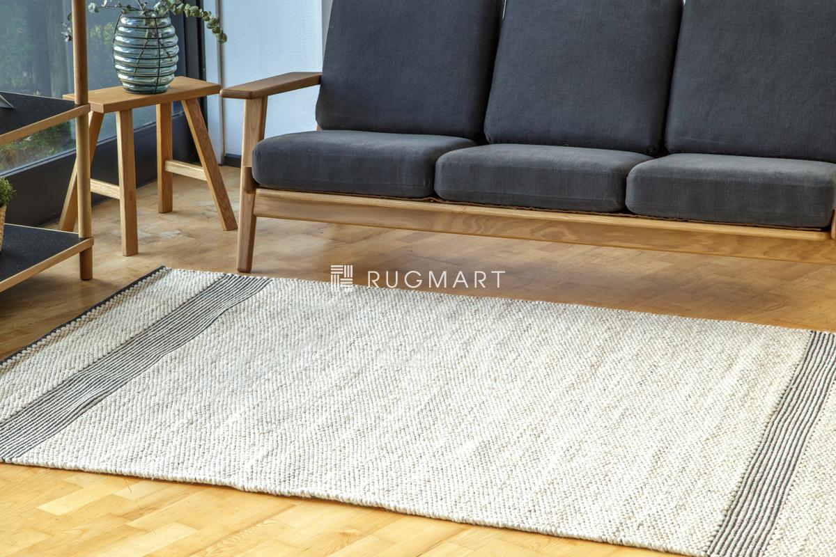 E-comfort ハンドウィーブ ウール ラグ PEDRO 160x230cm ベージュ |