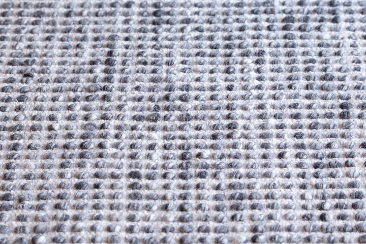 E-comfort 手織り リバーシブル キリム シルキーポルカドット 200x140cm デニムアイボリー |