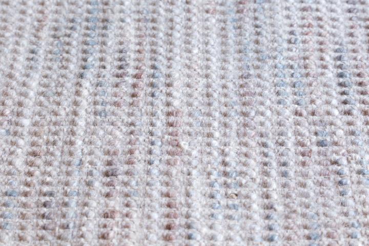 E-comfort 手織り リバーシブル キリム シルキーポルカドット 200x140cm ローズ  