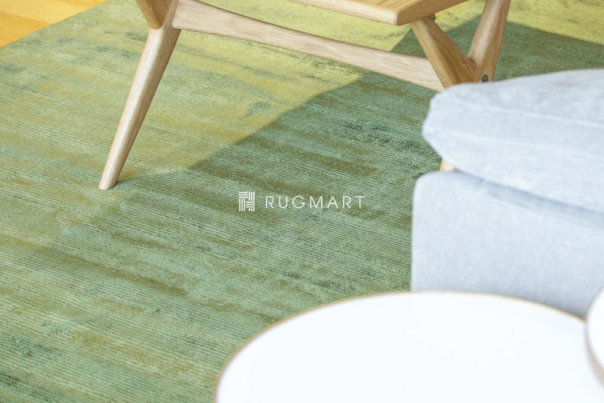 E-comfort ハンドウィーブ ヴィスコース ROMO 140x200cm グリーン |