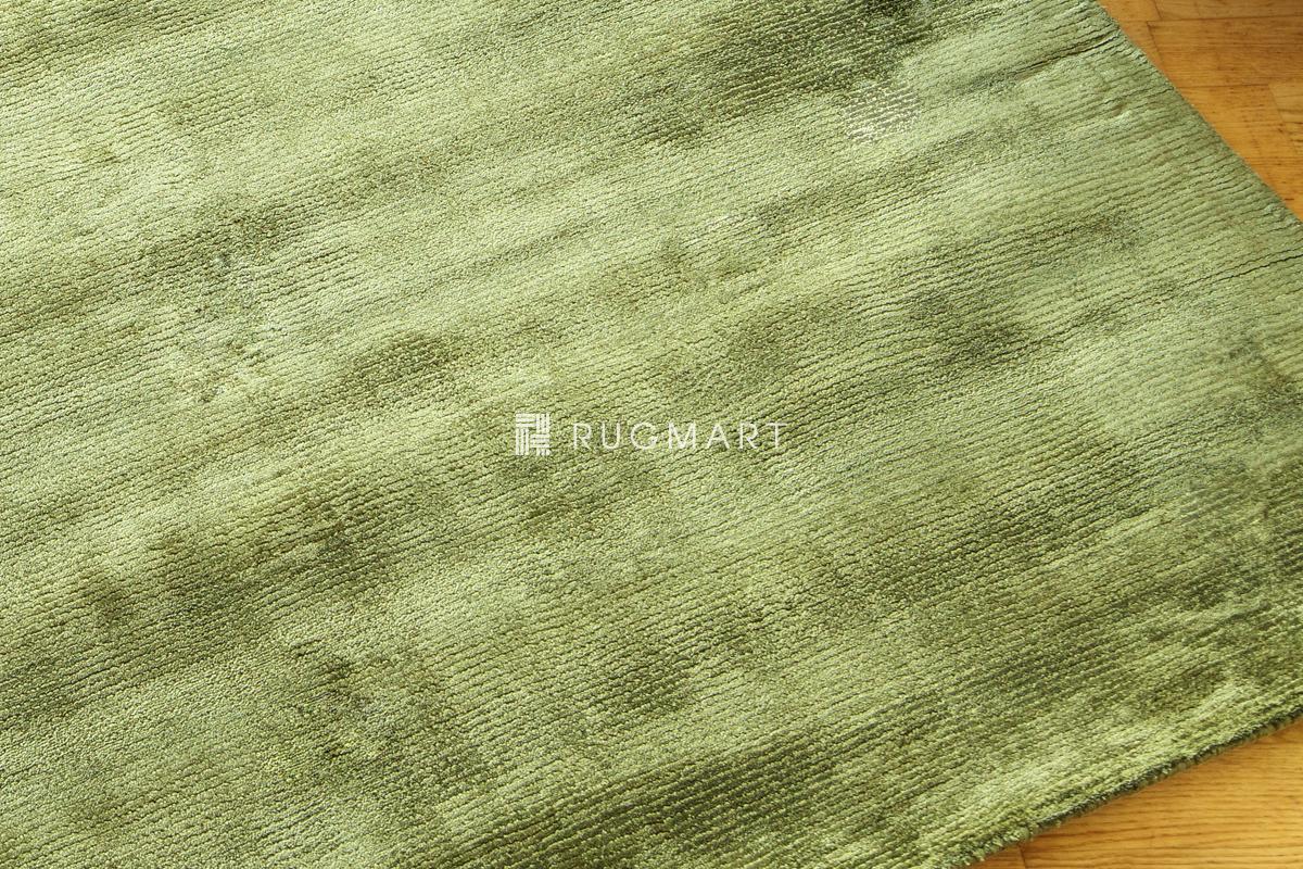 E-comfort ハンドウィーブ ヴィスコース ROMO 160x230cm グリーン |