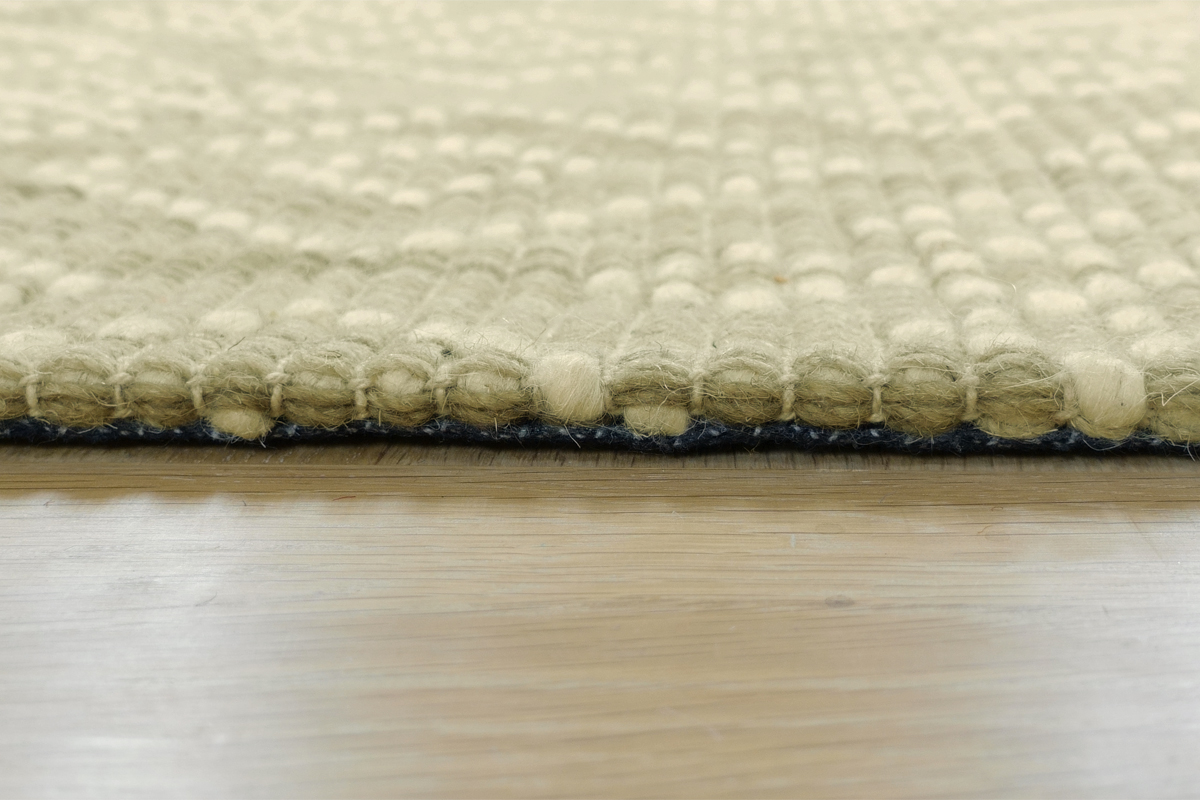 E-comfort ハンドウィーブ ウール TIGARO-103 230x160cm  ベージュ&アイボリー |