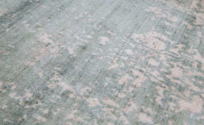 E-comfort ハンドルームノッテッド ヴィスコース ヴェローナ9018 230x160cm  グリーン |