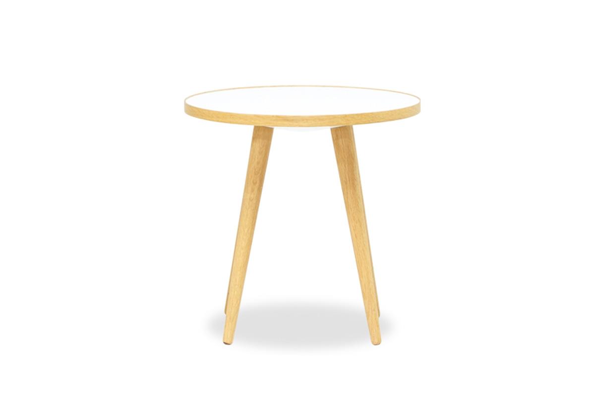 E-comfort SPUTNIK サイドテーブル A オーク | 正面