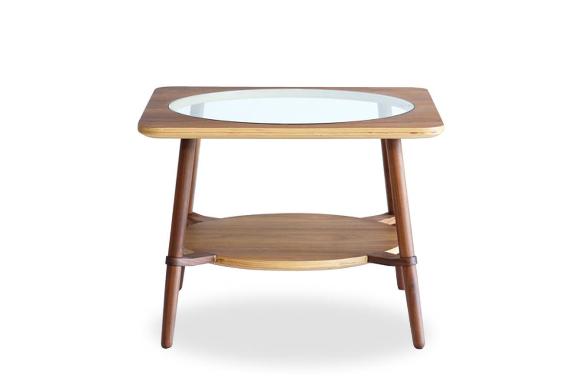 E-comfort カットアウト ローテーブル A ウォールナット | 正面