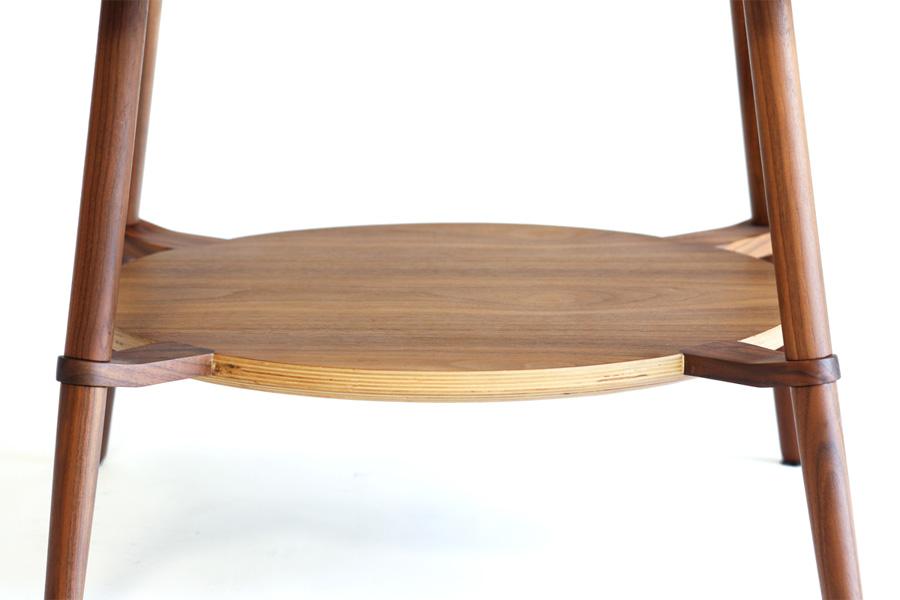 E-comfort カットアウト ローテーブル A ウォールナット | 脚アップ
