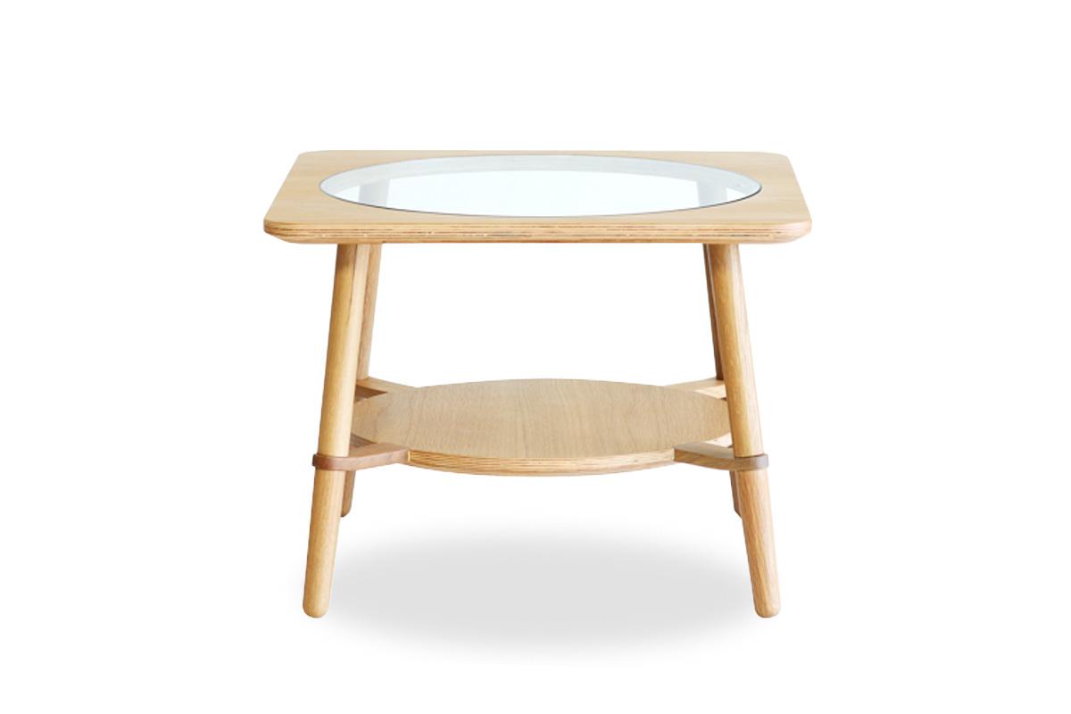 E-comfort カットアウト ローテーブル A<br>オーク