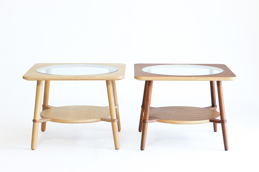 E-comfort カットアウト ローテーブル A オーク | 正面