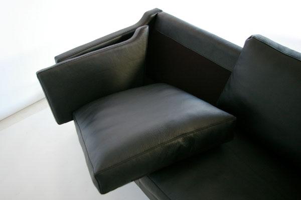 E-comfort ダブルクッション ソファ 3人掛け | クッションを外した時