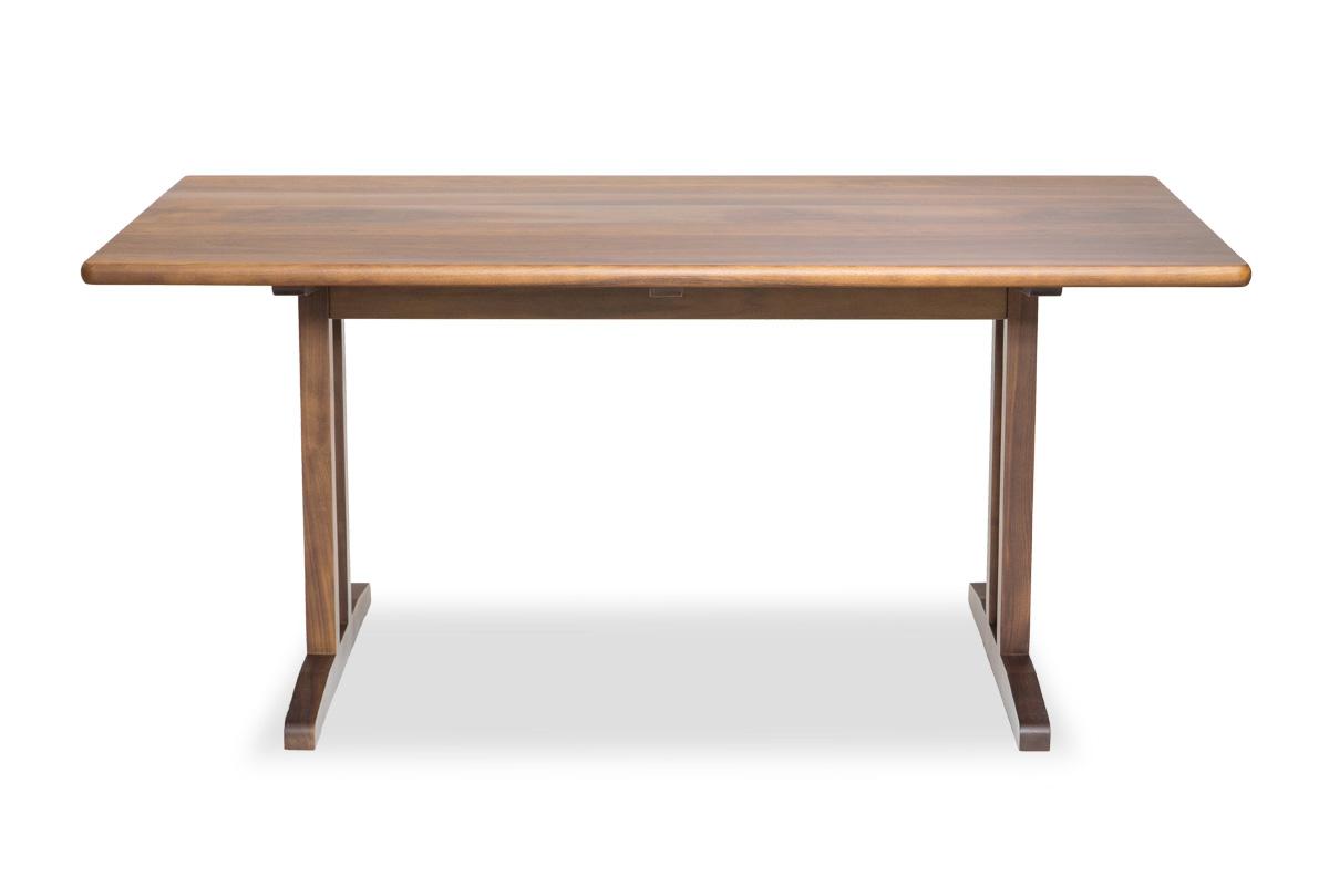 E-comfort C18 ダイニングテーブル 160cm ウォールナット | 正面