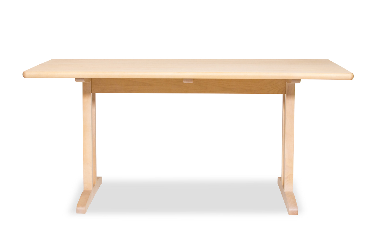E-comfort C18 ダイニングテーブル 160cm ビーチ ホワイトウォッシュ | 正面