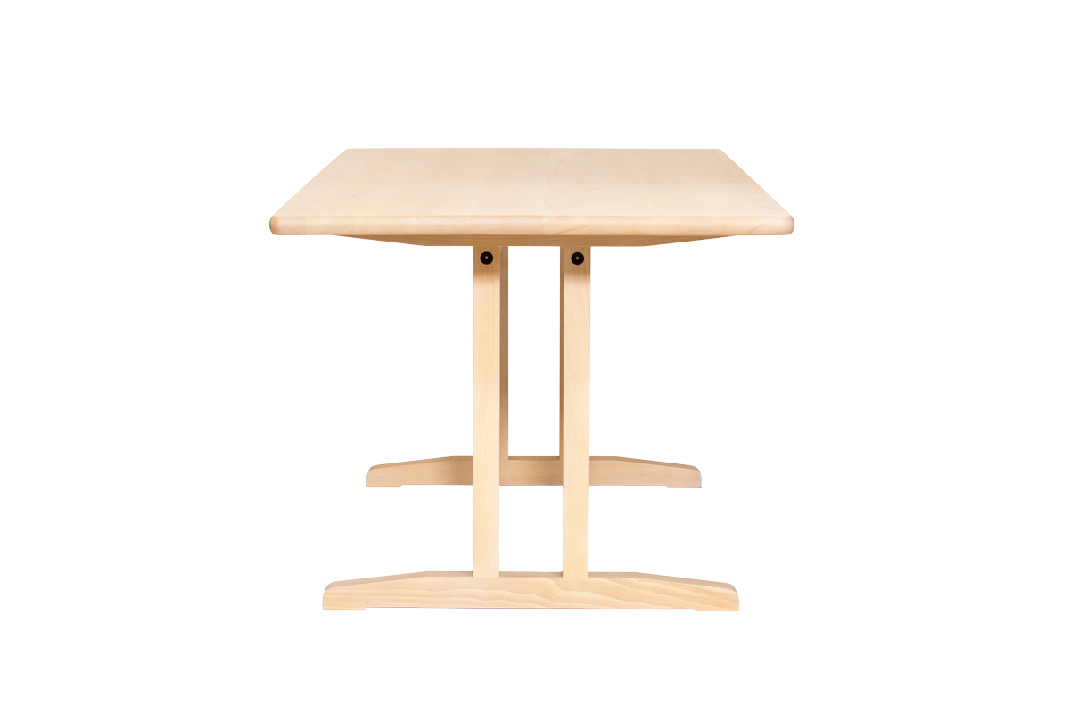 E-comfort C18 ダイニングテーブル 160cm ビーチ ホワイトウォッシュ | 横