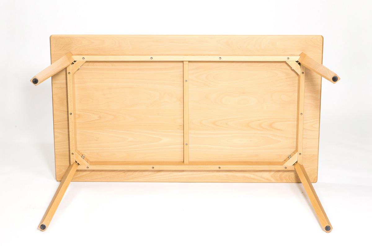 E-comfort 無垢 ダイニングテーブル 140cm ビーチ | 下