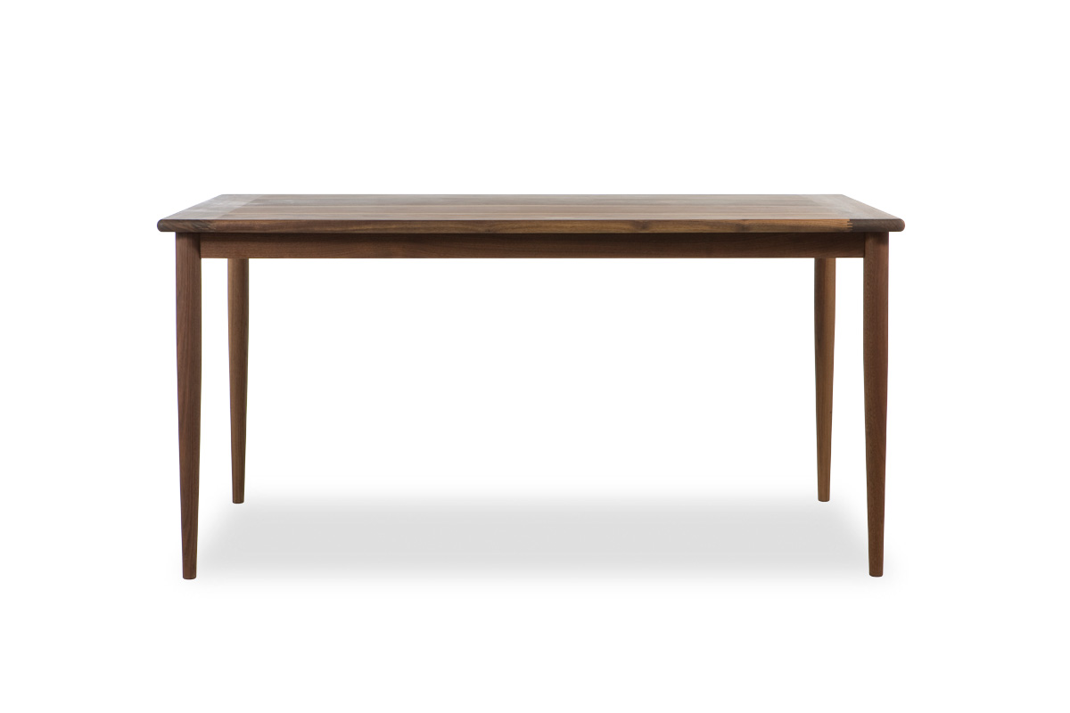 E-comfort ノルドテーブル 140cm ウォールナット | 正面