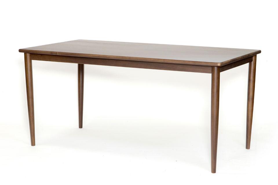 E-comfort ノルドテーブル 160cm ウォールナット | 斜め前