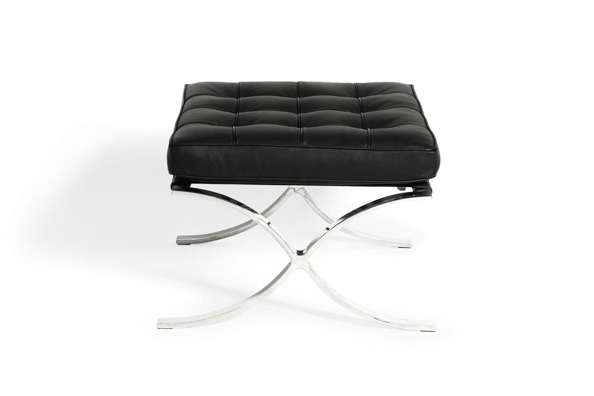 E-comfort バルセロナ オットマン 本革 ブラック |