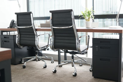 E-comfort アルミナムチェア マネジメントチェア フラットパッド 本革 |