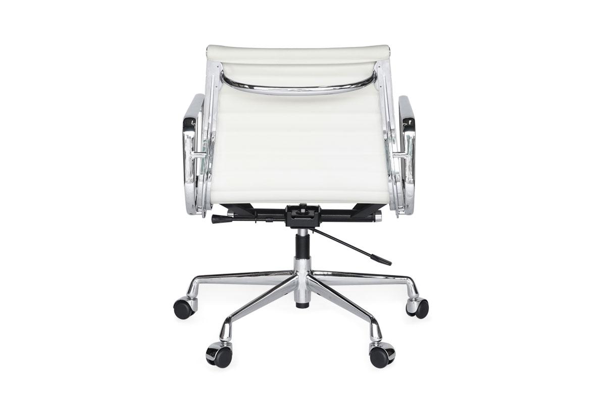 E-comfort アルミナムチェア マネジメントチェア フラットパッド PUレザー /キャスター仕様  