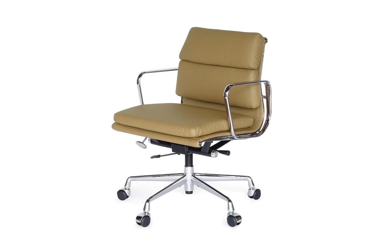 E-comfort アルミナムチェア マネジメントチェア ソフトパッド PUレザー /キャスター仕様 |