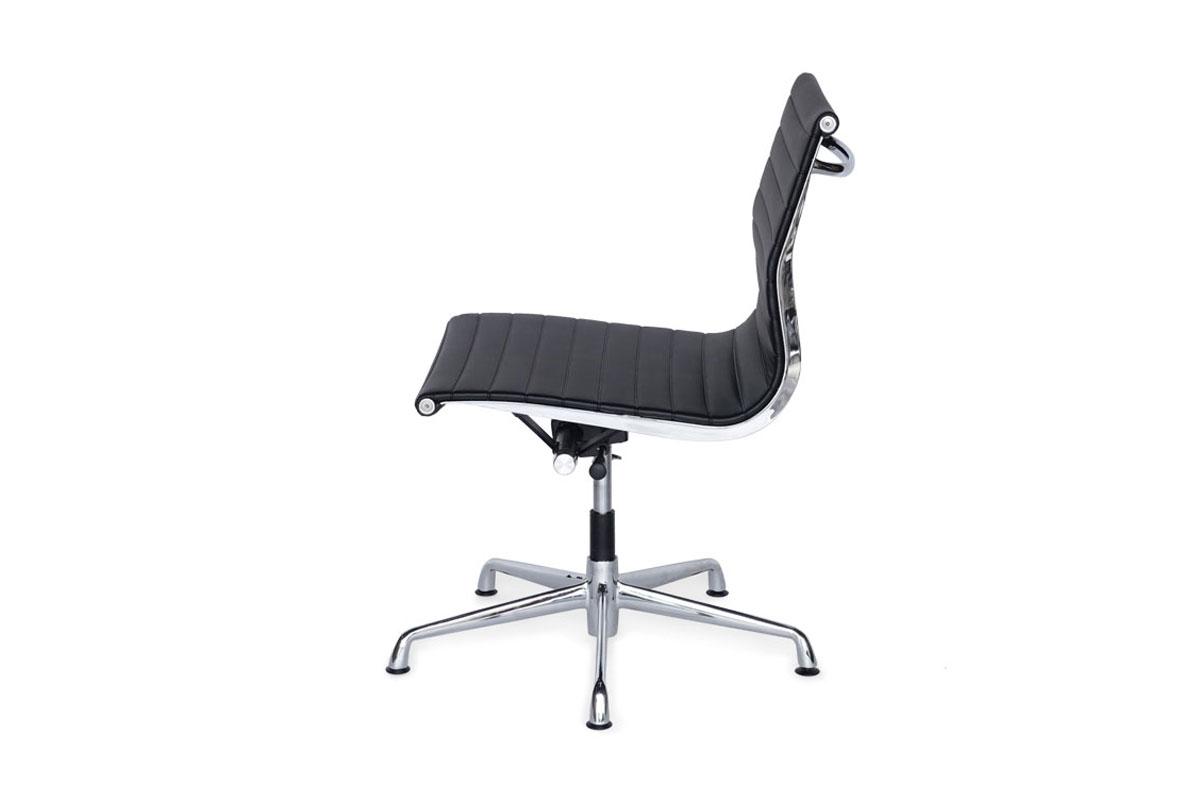 E-comfort アルミナムチェア マネジメントチェア フラットパッド アームレス 本革 /グライズ仕様 |