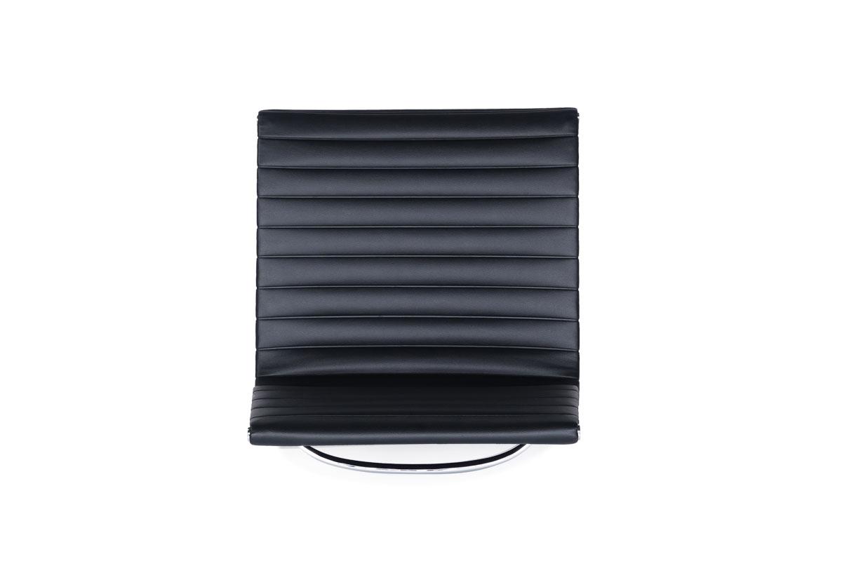 E-comfort アルミナムチェア マネジメントチェア フラットパッド アームレス PUレザー /グライズ仕様  