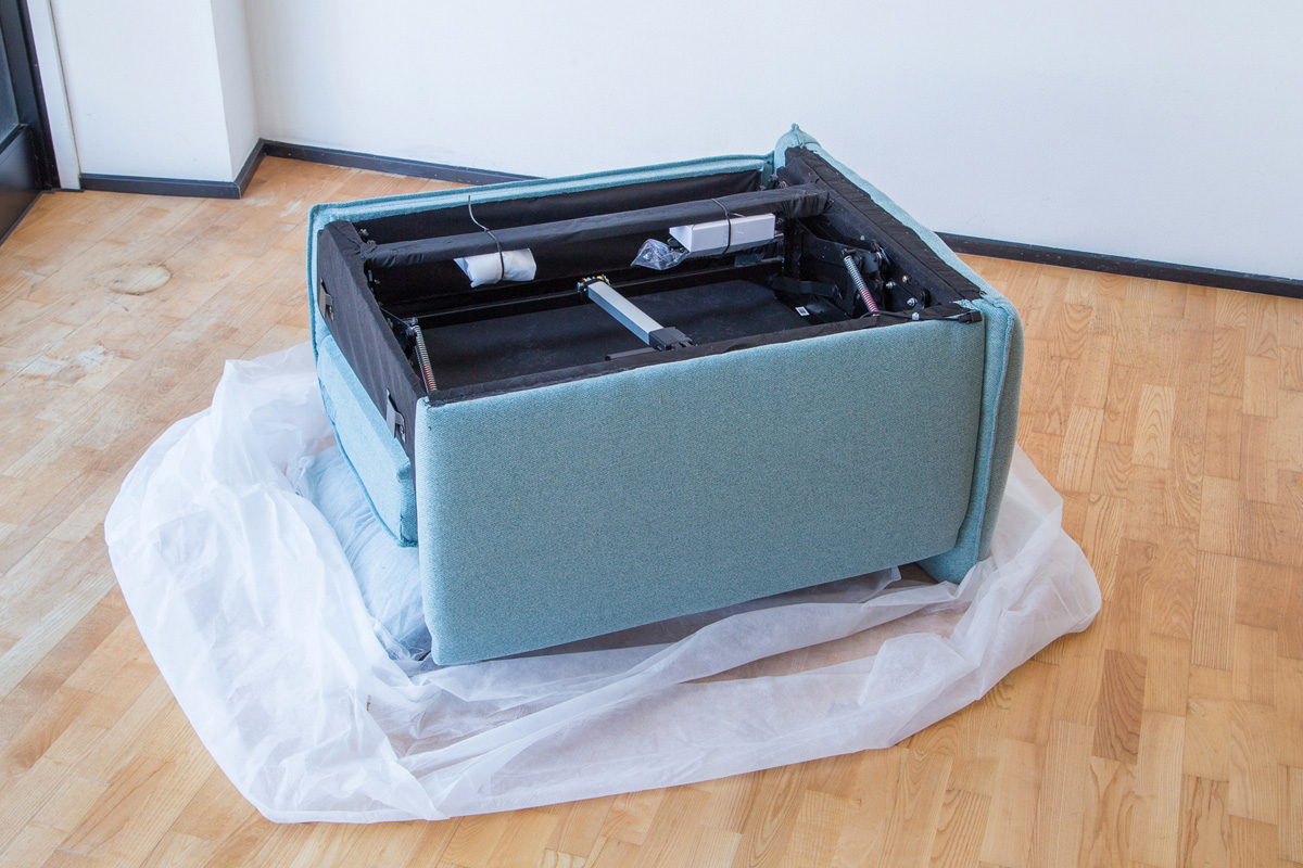 E-comfort 電動リクライニングソファ 2.5p グレー | 内部