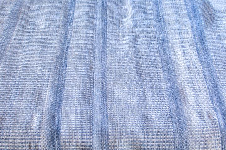 E-comfort 手織り リバーシブル キリム アミーゴトナル ストライプ 200x140cm ブルー |