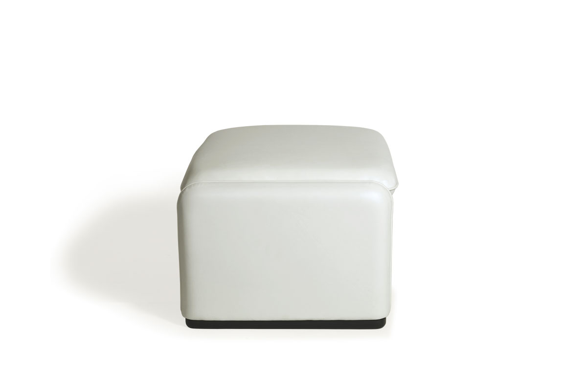 E-comfort マラルンガ ソファ オットマン 本革 ホワイト  